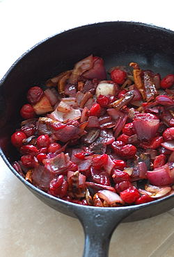 Skillet Roasted ~ Ingredients for Cranberry chutney